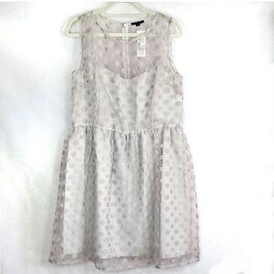 Sisley Dresses - Sisley Dress Gray Polka Dot Size L NWT